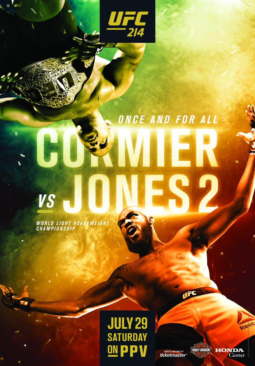 Oglądaj UFC 214 Online za darmo - Daniel Cormier vs. Jon Jones, Cris Cyborg vs. Tonya Evinger, Tyron Woodley vs. Demian...