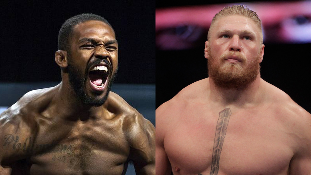 Jon Jones i Brock Lesnar