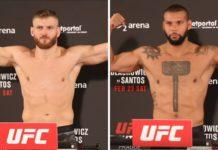 Wyniki ważenia UFC w Pradze