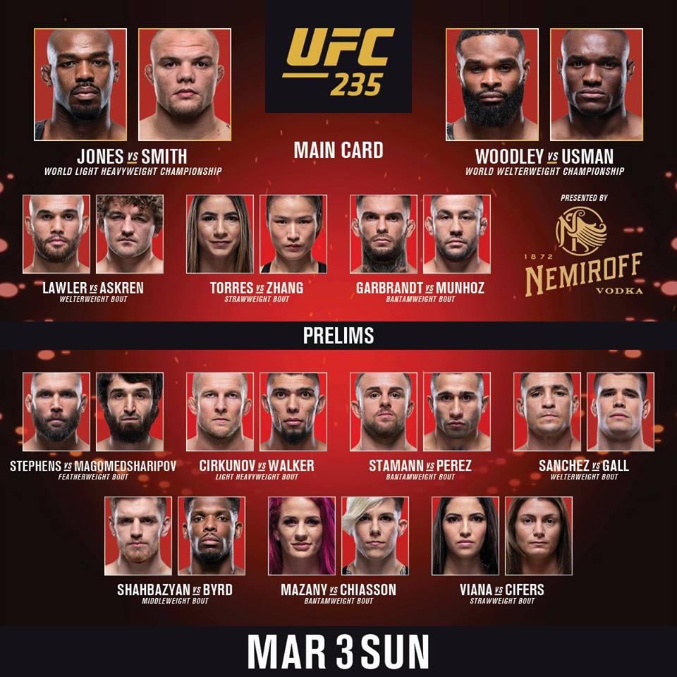 Wyniki gali UFC 235