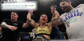 Zobacz reakcje Twittera na nokaut Andrade w walce z Namajunas