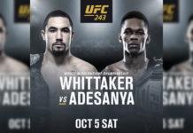 Robert Whittaker vs. Israel Adesanya na UFC 243!