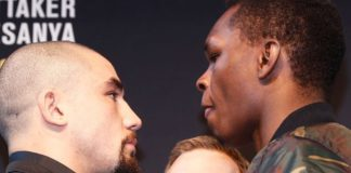 Whittaker vs Adesanya przed UFC 243