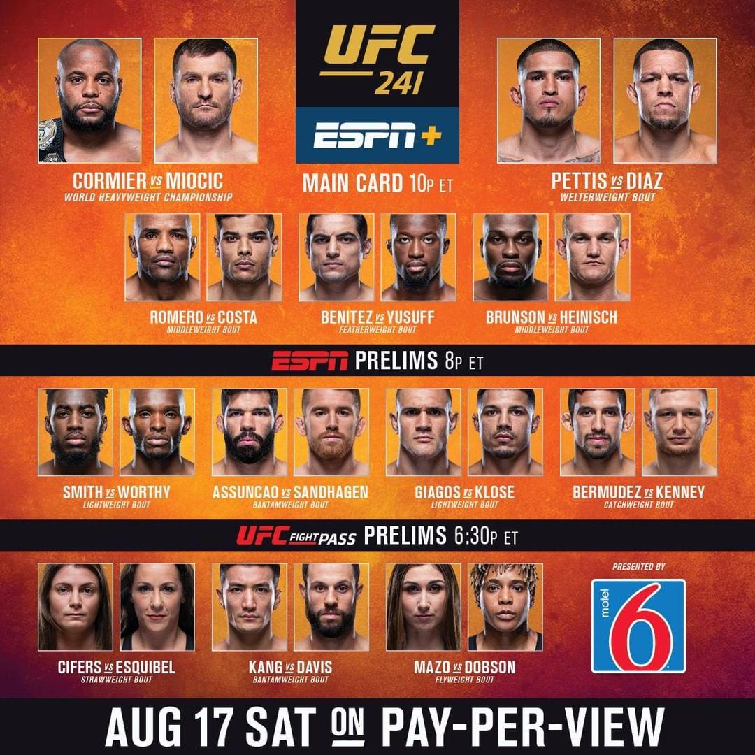 UFC 241 wyniki