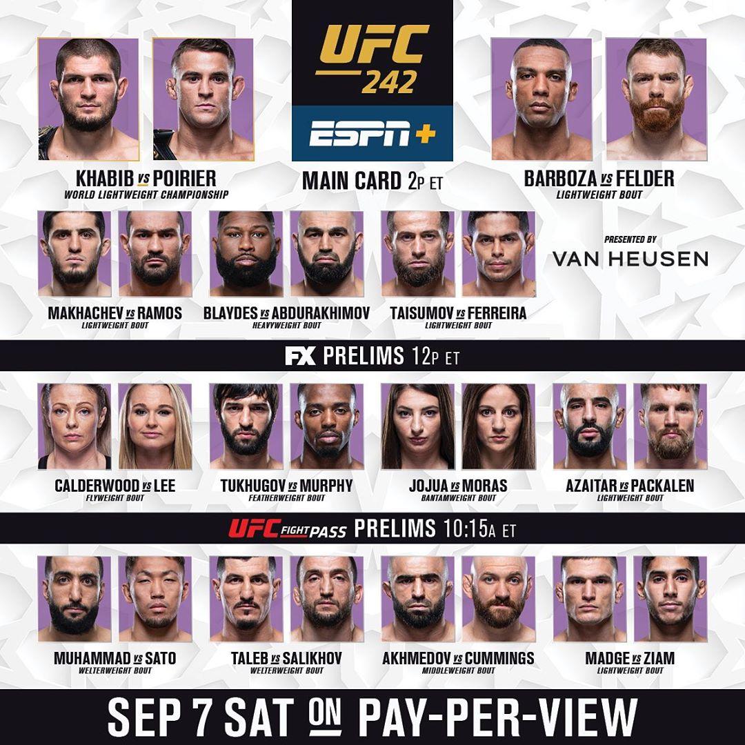 UFC 242 wyniki