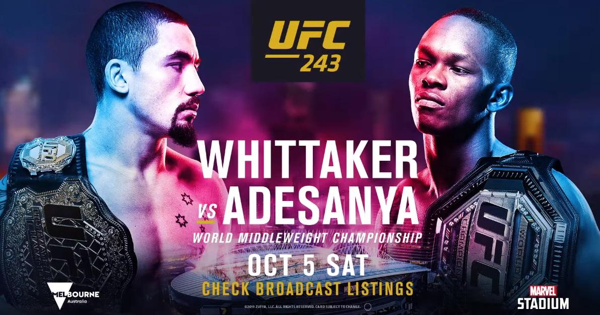 UFC 243 promo